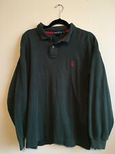 Vintage Nautica Green Long Sleeve Polo Rugby Shirt Men's Size XL/TG