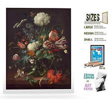 JAN DAVIDSZ DE HEEM DUTCH GOLDEN VASE OF FLOWERS ART