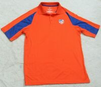 New Fanatics FC Cincinnati Orange Polo Shirt Short Sleeve Polyester Man's Medium