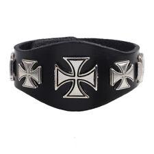 bracelet brun foncé , marron croix de malte