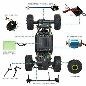 Rechargeable 4Wd 2.4GHz Rock Crawler Off Road R/C Car Monster Truck Kids Toys