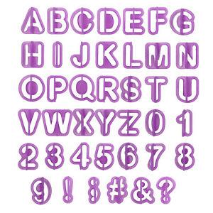 Fondant Ausstecher Buchstaben Zahlen Werkzeug für Formen Ausstechformen Cutter