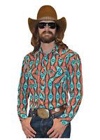 Rock & Roll Cowboy Men's Dale Brisby Multi Aztec Print Snap Up Shirt B2S2331