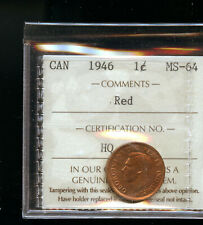 1946 - RED - Canada Penny - Graded - ICCS MS64 DCB249