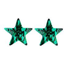 DARK Crystal Verde Smeraldo Forma di Stella Orecchini A PERNO PICCOLO e1106