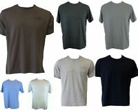 NEW Men's Plain Basic COTTON T-SHIRT White Black with Pocket Size S M L XL XXL
