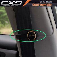 EXO Car Auto Premium Line safety seat belt clip stopper Clamps 1 Pair GOLD
