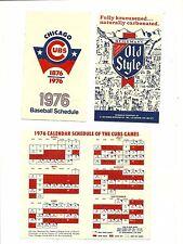 Chicago Cubs 1976 foldout baseball schedule
