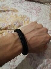 Men's Stainless Steel Cross Black/Brown Braided Leather Bracelet Bangle Cuff