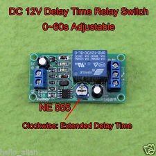 DC 12V NE555 0~60s Adjustable Delay Timing Timer Relay Switch Turn OFF Module