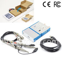 New 2 CH USB PC Virtual Digital Oscilloscope 20M Bandwidth 50M Samplinmg Rate