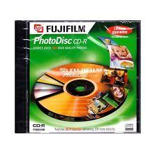 10  FujiFilm Photo Disc CD-R 700MB Photos Fuji CD Jewel Cased Lifetime Guarantee