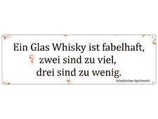 METALLSCHILD Vintage Blechschild EIN GLAS WHISKY Dekoschild Geschenk Bar Regal