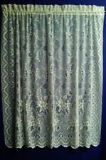 Dogwood Lace Curtain Panels White or Ivory or Mocha Livingroom Bedroom Den