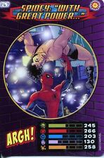 Spiderman Heroes And Villains Card #267 Spidey With Great Power