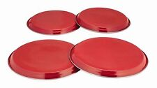 RED 4PC ELECTRIC HOB COVER STAINLESS STEEL BURNER RING LID PROTECTOR COOKER NEW