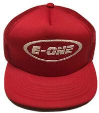 Vtg E-One Trucker Hat Ocala Florida Emergency Services Firefighting Rescue Cap