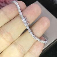 Certified 5.00 Ct Excellent Round VVS1/D Diamond Tennis Bracelet 14K White Gold