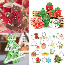 14 Pcs Christmas Set Metal Cookie Cutter Star Tree Bell Angel Candy Cane Biscuit