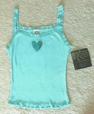 GK Elite GYMNAST Rhinestone Sequin Lace Emb Cami Top, Lt Blue Size M, MSRP $29