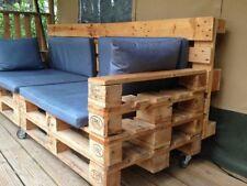 Divano in legno 240x80 con Pallet Bancali EUR  EPAL con schienali e ruote