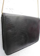 -AUTHENTIQUE   sac à main type soirée  cuir  reptile  vintage TBEG   bag 70's