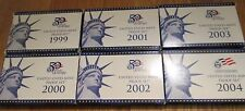 1999 to 2004 Proof Set 99 2000 2001 2002 2003 2004 Proof set 6 sets Box & COA