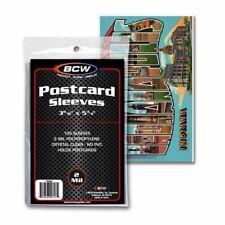 100 Bcw Postcard Sleeves 3-11/16 x 5-3/4 Polypropylene
