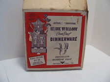 Blue Willow Ware by Royal China 4-PC Set in Original Packaging