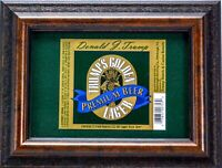 Trump Rare Casino Golden Lager Beer Label 1997 Rare Presidential Collectable