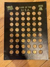 Land of The USA 1975 Lincoln Pennies - Full Set - State Stamped On Front