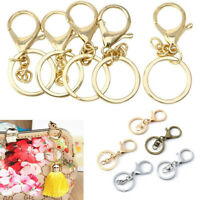 DIY Jewelry Making Clips Bag Hook KeyRing Lobster Clasp Split Ring Key Chain