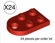 Lego 24 Red Plate Modified 3x2 with Hole,Valentine's / Mother's Day Heart Parts