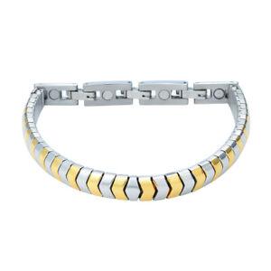 T-Prime 440 Flex Magnet Bracelet Bicolor Gold Silver magnetix Energy Tcm