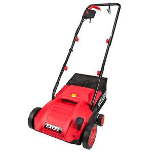 Excel 1500W 2 in 1 Electric Garden Lawn Raker / Scarifier & Aerator 320mm 240V