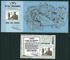 """France - """"WORLD WAR II ~ GENERAL D GAULLE ~ MILITARY"""" 2 Mini Sheets MS 2010"""