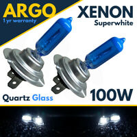 2 X H7 100w Super White Xenon Upgrade Headlight Bulbs Set 499 12v Full/dipped
