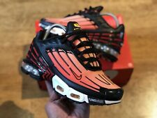 NIKE AIR MAX PLUS III TUNED 3 TN BLACK ORANGE TRAINERS YOUTHS MEN UK4.5 EUR37.5