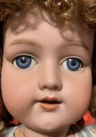 "AM 390 Antique German Bisque Big 25"" Doll Armand Marseille size 10"