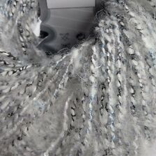 6 x 50g Alpaca Yarn, White/Black/Blue. Textiles/Knit/Crochet/Weave