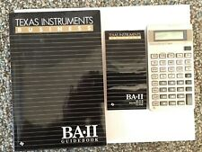 Vintage1987 Texas Instruments Ba-Ii business analyst with guides