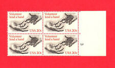 SCOTT # 2039 Volunteerism Issue United States Stamps MNH - Plate Block of 4