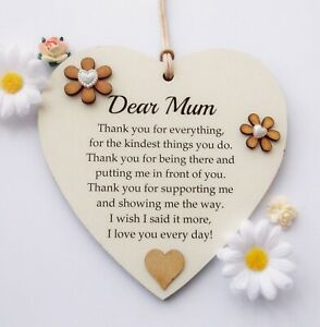 Thank You Mum - Wooden Plaque Mother's Day Gift