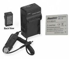 Battery +Charger for Sanyo Xacti VPC-CG65 VPC-E1 VPCE1