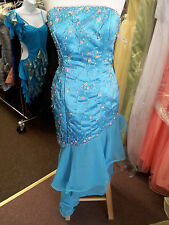 PF Turquoise Prom Evening Special Ocacions Formal Dance Dress  S: 12