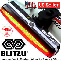 Blitzu Cyborg 168T LED USB Rechargeable Bike Tail Rear Light For Bicycle Safety.