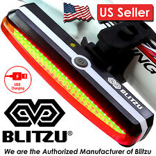 NEW Blitzu Cyborg 168T LED USB Rechargeable Bike Tail Light For Bicycle Safety.