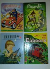3 big Golden Books and 1 Rand McNally Giant Book