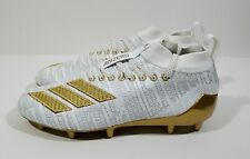 Adidas Adizero 8.0 Mens Football Cleats White Gold Size 8