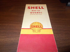 1951 Shell Quebec Vintage Road Map